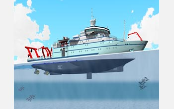Artist's rendition of the Alaska Region Research Vessel.