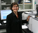 Photo of Julie Arslanoglu, Department of Scientific Research, Metropolitan Museum of Art.
