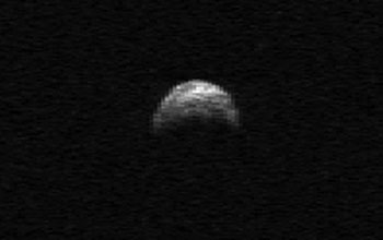 Asteroid 2005 YU55 observed by Arecibo Telescope.