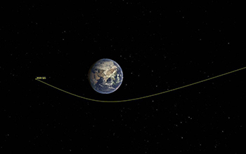 asteroid 2020 QG's trajectory bending during its close approach to Earth