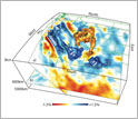 EarthScope image of the 3-D seismic velocity structure in the mantle beneath western North America.