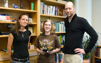 Photo of Anna Kornfeld Simpson with her mentors from UCSD.