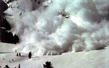 Photo of an avalanche.