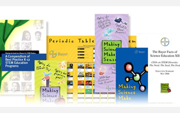 Educational materials from Bayer's Making Science Make Sense� campaign.