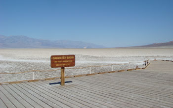 spring at Badwater Basin, Death Valley National Park, where BW-1 was found.