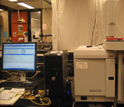 Photo of a gas chromatography/mass spectroscopy instrument.