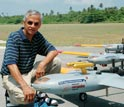 V. Ramanathan, chief scientist of CAPMEX, with several AUAVs that will fly above Korea.
