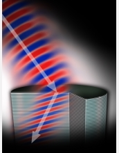 An artist's rendition of the new light-bending metamaterial.