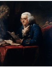 Portrait of Benjamin Franklin by artist David Martin (1737-1797)