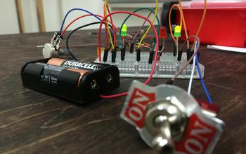 a circuit with batteries and switch