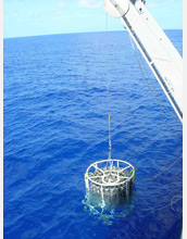 Photo of a plankton sampling net.