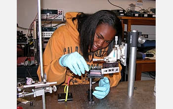 Brittney Perry participates in an undergraduate research program.