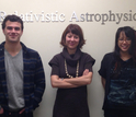 Forrest Kieffer (left), postdoctoral researcher Roseanne Cheng (right) and Tamara Bogdanovic
