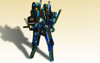 Image of the bipedal robot MABEL.