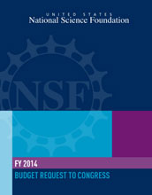 Cover page of th NSF budget request to Congress