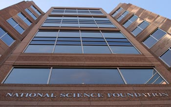 Photo of the entrance to the NSF headquarters building
