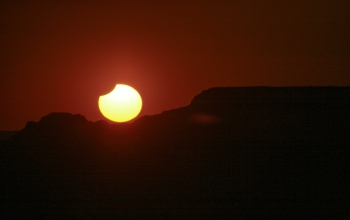 Eclipse over the Grand Canyon