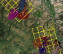 Image showing GPS data from bobcats on the Uncompahgre Plateau, Colorado.