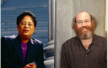 Photo of Shirley Ann Jackson and William Bialek