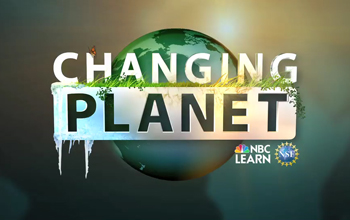 "Graphic of ""Changing Planet"" logo over smaller NBC Learn and NSF logos."