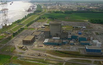 Photo of the Waterford 3 Nuclear Power plant in Louisiana.