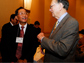 Photo of Jiaquang Sun of the National Natural Science Foundation and NSF Director Arden Bement.