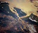 Photo of the Salween Delta as seen from outer space.