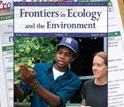 Cover of Aug. 2012 issue of Frontiers in Ecology and the Environment devoted to citizen science.