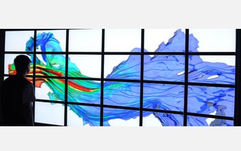 A computer visualization of a river bed.