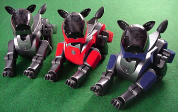 Three four-legged robots