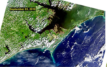 satellite images of coastal North Carolina