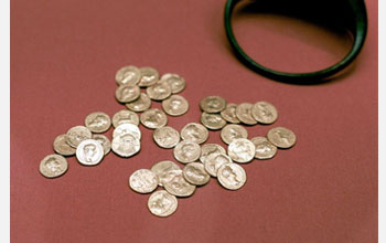 Photo of Roman coins.