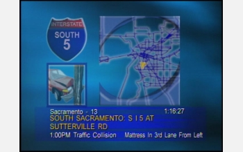 TV-ready www.BeatTheTraffic.com update of traffic conditions in Sacramento