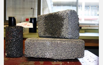 Photo of concrete pavement samples from engineer Liv Haselbach's lab.