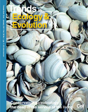 Cover of the January, 2011 issue of the journal Trends in Ecology and Evolution.