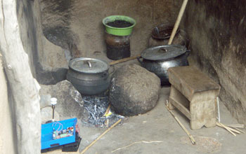 Photo of pots and pans used for outdoor cooking.