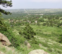 Photo of the green surroundings of Boulder, a city along Colorado's Front Range.