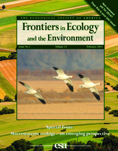cover of the special issue of Frontiers in Ecology journal