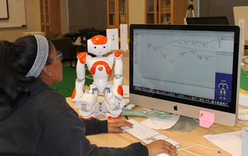 Co-Robots for CompuGirls teaches about programming, as well as how robots can address social issues.