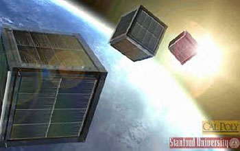 Ultra-small satellites, cubesats, used for space weather and atmospheric research.
