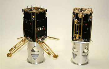 Two completed cubesats.