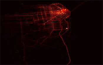 GPS Tracks of all San Francisco taxis collected from the Mobile Millennium system for a few hours.