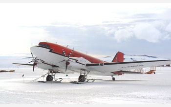 Photo of DC-3T at McMurdo Station, Antarctica