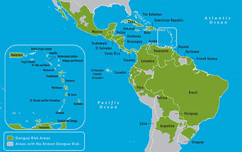 Map Of Western Hemisphere Multimedia Gallery   Dengue is also on the march across the  Map Of Western Hemisphere