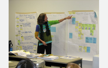 Photo of a  teacher participating in CCS design process.