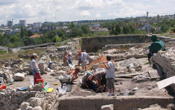 Photo of the dig site at Chersonesos, a Greek colony on the Crimean peninsula.