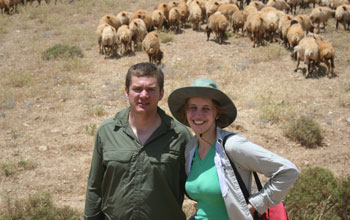 Photo of Ryan and Cori Boyko in the Bekaa Valley, Lebanon.