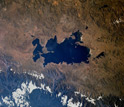 Lake Titicaca from space.