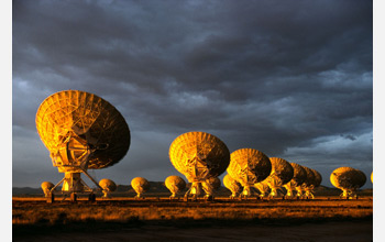 Photo of NSF's Very Large Array radio telescope in New Mexico.