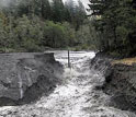 Photo of Oregon's Sandy River flowing free after removal of the former Marmot Dam.